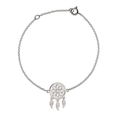 18K White Gold With Diamonds Dreamcatcher Bracelet - Jackson Hole Jewelry Company
