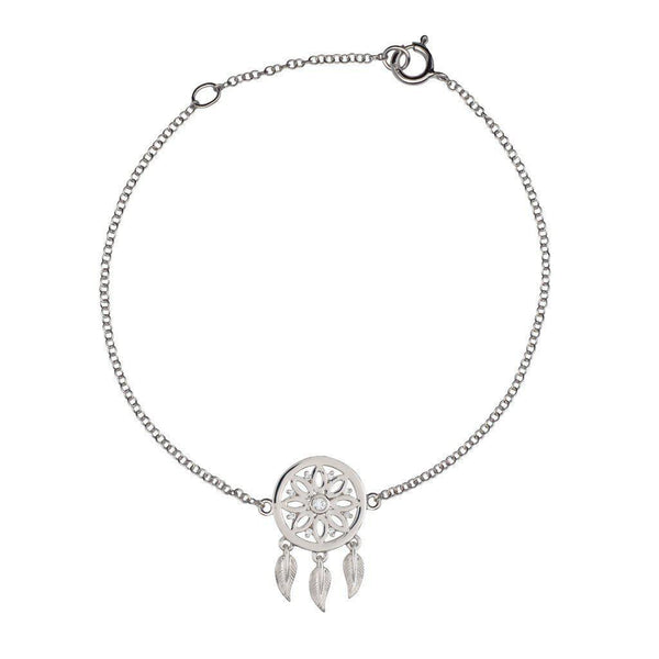 18K White Gold With Diamonds Dreamcatcher Bracelet