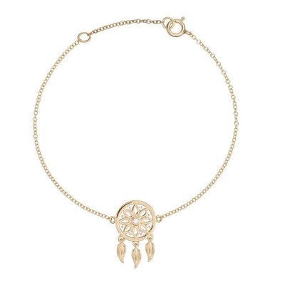 18k Yellow Gold Dreamcatcher Bracelet - Jackson Hole Jewelry Company