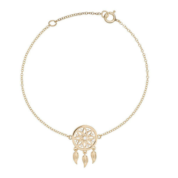 18k Yellow Gold Dreamcatcher Bracelet