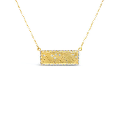 Julez Bryant 14k Yellow Gold Mountain Bar Necklace - Jackson Hole Jewelry Company