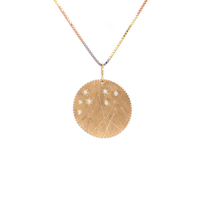 Julez Bryant 14k Yellow Gold Mountain Medallion - Jackson Hole Jewelry Company