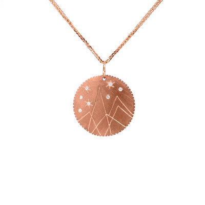 Julez Bryant 14k Rose Gold Small Mountain Medallion - Jackson Hole Jewelry Company