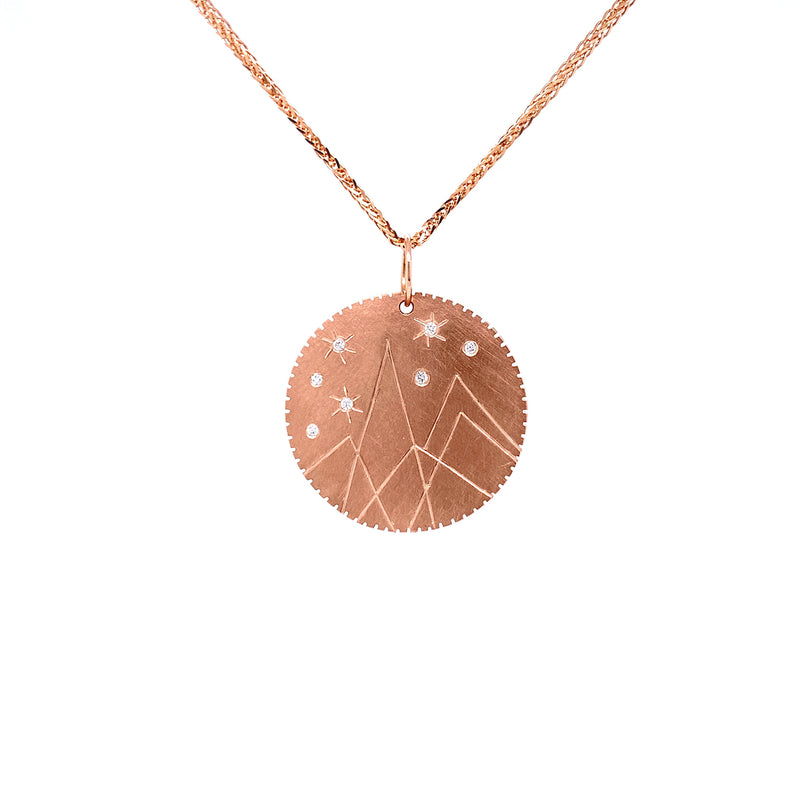 Julez Bryant 14k Rose Gold Mountain Medallion