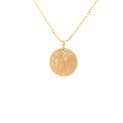 Julez Bryant 14k Yellow Gold Small Mountain Medallion - Jackson Hole Jewelry Company