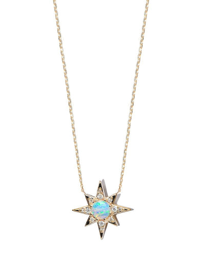 ANZIE Aztec Mini Starburst Necklace with Opal or Turquoise - Jackson Hole Jewelry Company