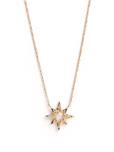 ANZIE Aztec Mini Starburst Necklace with Clear Topaz - Jackson Hole Jewelry Company