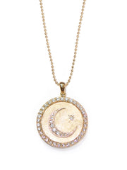 ANZIE Aztec Royale Celestial Moon Crescent Medallion Necklace - Jackson Hole Jewelry Company