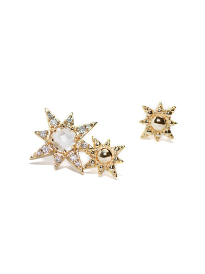 ANZIE Aztec Double Starburst Mini Stud Earrings - Jackson Hole Jewelry Company