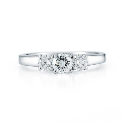 3 Stone Round Diamond Ring - Jackson Hole Jewelry Company