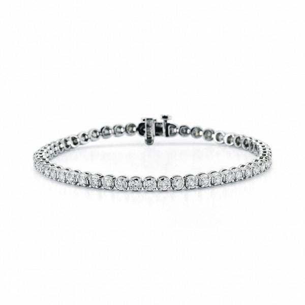 4 Prong Diamond Tennis Bracelet