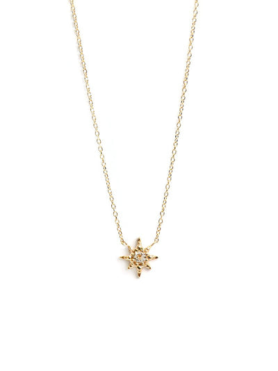 ANZIE Micro Aztec Starburst Necklace 14K Gold - Jackson Hole Jewelry Company