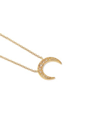 ANZIE Aztec Large Moon Crescent Necklace - 14K Gold - Jackson Hole Jewelry Company