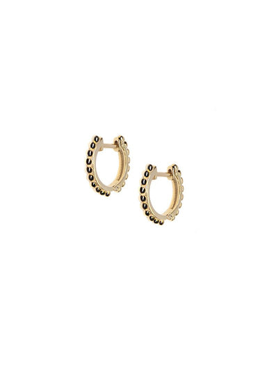 ANZIE Dew Drop 14K Gold Huggies - Jackson Hole Jewelry Company