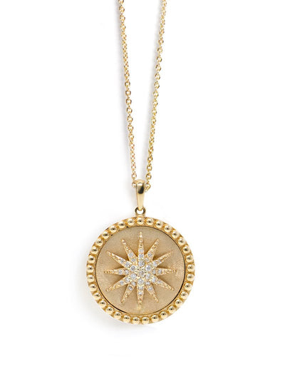 ANZIE Aztec Dew Drop Celestial Burst Medallion Necklace - Jackson Hole Jewelry Company