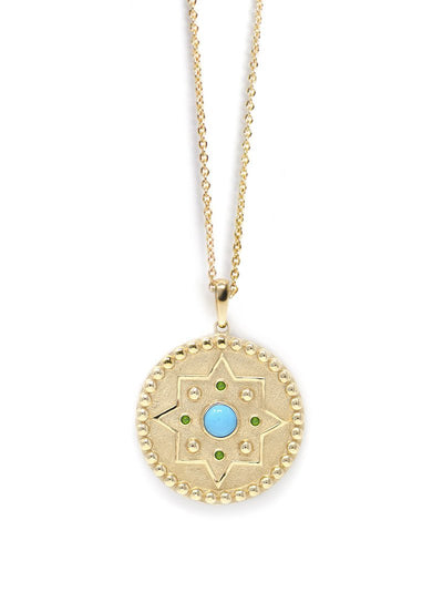 ANZIE Aztec Dew Drop Mayan Medallion Necklace - Jackson Hole Jewelry Company