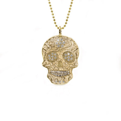 Julez Bryant Large SKOR Skull with Diamonds - Jackson Hole Jewelry Company