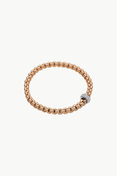 Fope Eka Flex'it Bracelet with Diamond Pavé - Jackson Hole Jewelry Company