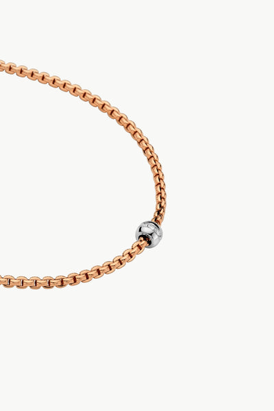 Fope Eka Tiny Necklace with Diamond Rondel - Jackson Hole Jewelry Company