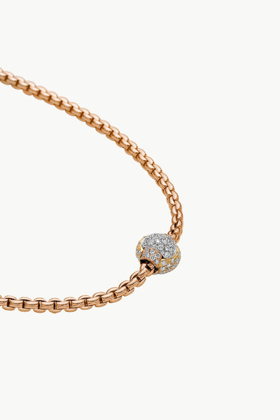 Fope Eka Tiny Necklace with Diamond Pave' - Jackson Hole Jewelry Company