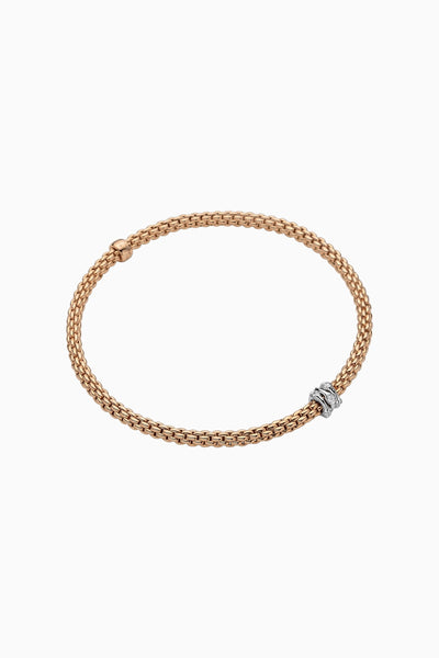 Fope Prima Flex'it Bracelet with Diamonds - Jackson Hole Jewelry Company