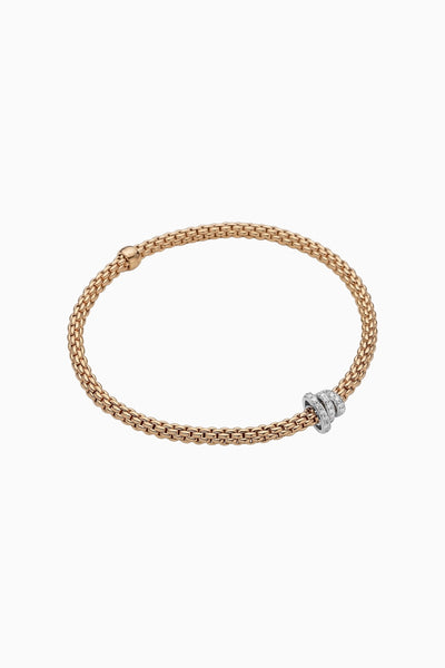 Fope Prima Flex'it Bracelet with Diamond Pavé - Jackson Hole Jewelry Company