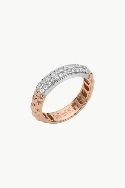 Fope Eka Ring with Diamond Pave' - Jackson Hole Jewelry Company