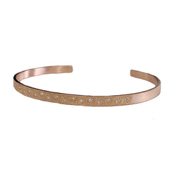 Julez Bryant 14k Rose Gold Cuff Bracelet with White Diamond Pave - Jackson Hole Jewelry Company