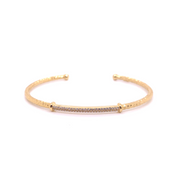 14k Marika Desert Gold Stackable Cuff with Pavé Diamonds - Jackson Hole Jewelry Company