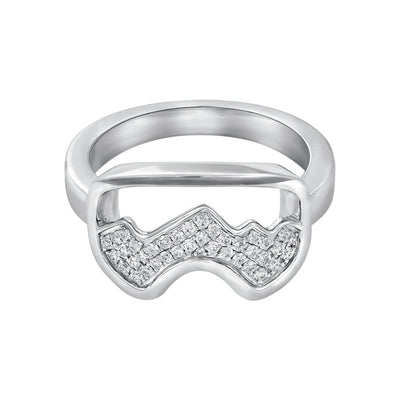 Diamond Teton Ski Goggle Ring - Jackson Hole Jewelry Company