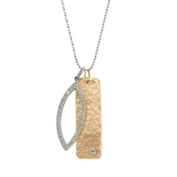 Julez Bryant 14k Medium Niki Necklace with Edie Charm
