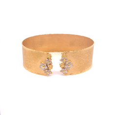 14k Marika Desert Diamond Flower Cuff Bracelet with Diamonds - Jackson Hole Jewelry Company