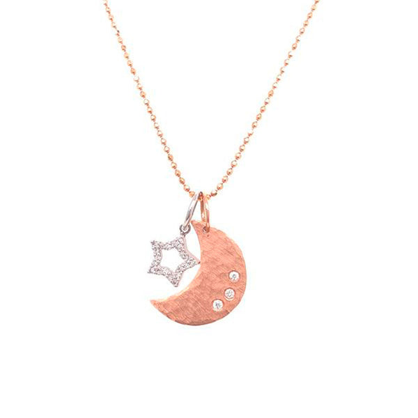 Julez Bryant 14k Rose Gold Alem Pendant with Baby Star Charm