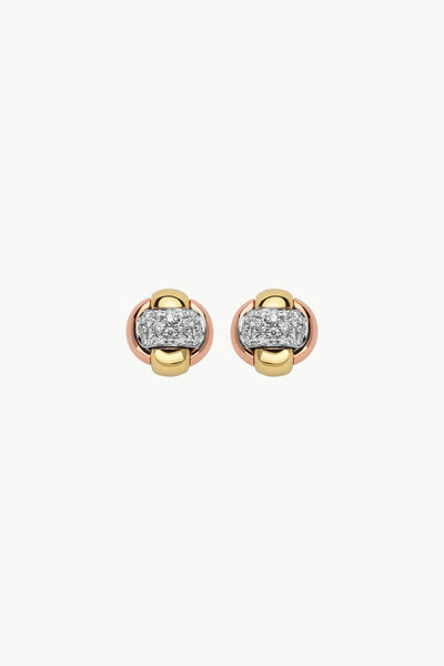 Fope Eka Tiny Earrings with Diamonds - Jackson Hole Jewelry Company