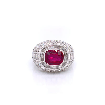 Picchiotti Cushion Cut Ruby and Diamond Ring - Jackson Hole Jewelry Company
