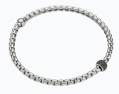 Fope Eka Tiny Flex'it Bracelet with Diamond Pavé - Jackson Hole Jewelry Company