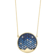 St. Jude Moonlight on the Mountains 18 Karat Sapphire Pavé Necklace - Jackson Hole Jewelry Company