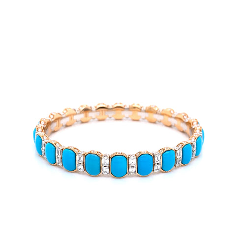 Picchiotti Xpandable™ Turquoise and Diamond Bracelet - Jackson Hole Jewelry Company