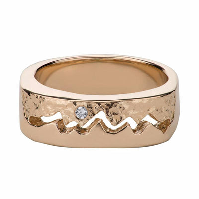 Classic Teton Men's Cut Through Ring - Jackson Hole Jewelry Company