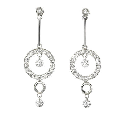 Dancing Diamond Drop Earrings - Jackson Hole Jewelry Company