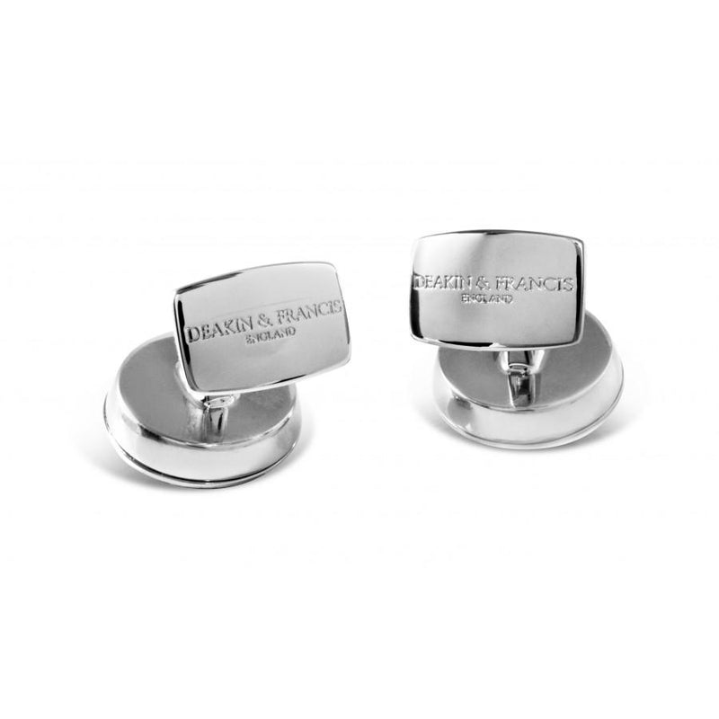 D&F Oval Cufflinks with Onyx