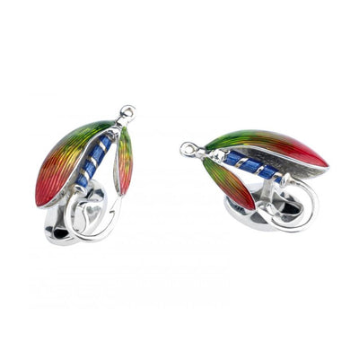 D&F Sterling Silver Fly Fishing Cufflinks - Jackson Hole Jewelry Company