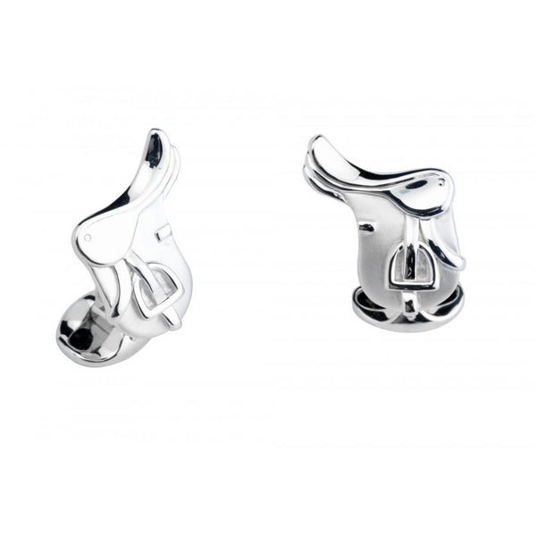 D&F Sterling Silver Saddle Cufflinks