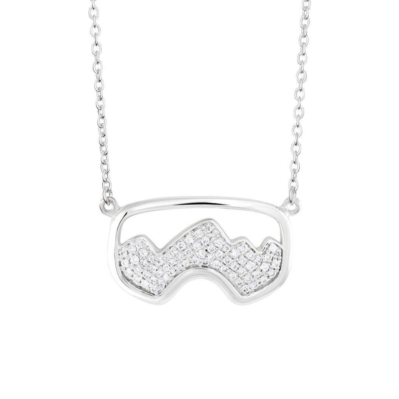 Diamond Teton Ski Goggle Necklace