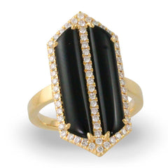 Doves 18K Yellow Gold Gatsby Black Onyx Ring - Jackson Hole Jewelry Company