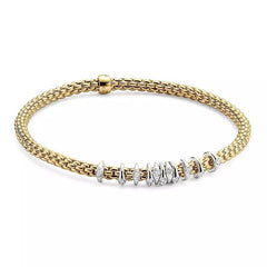 Fope Prima Collection: Flex'it scatter bracelet with diamonds - Jackson Hole Jewelry Company