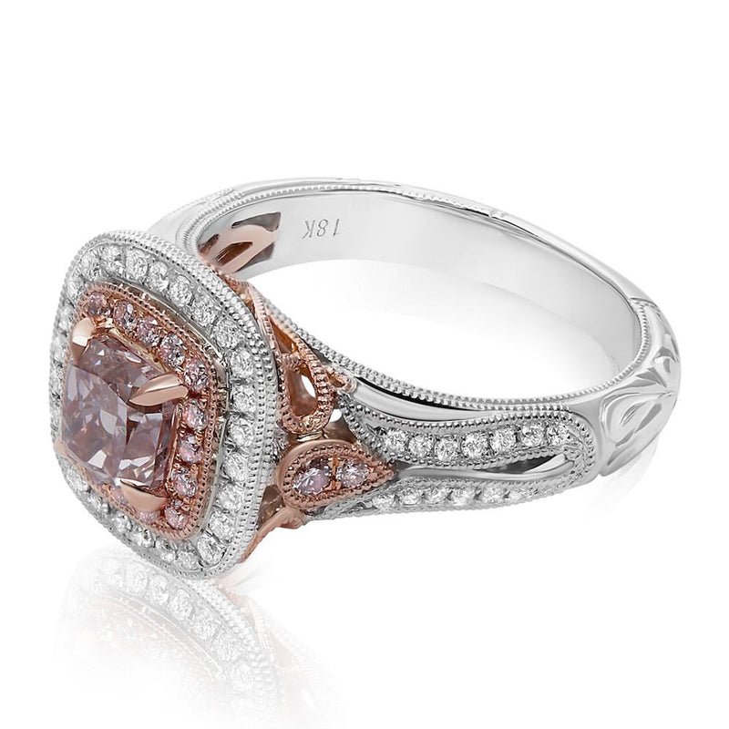 1 Carat Pink Diamond Center Stone Ring - Jackson Hole Jewelry Company  - 2