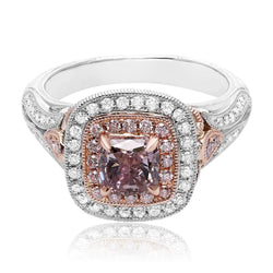 1 Carat Pink Diamond Center Stone Ring - Jackson Hole Jewelry Company  - 1
