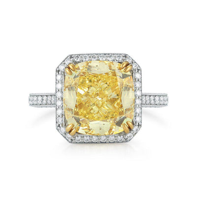 GIA 8.02 Carat Fancy Yellow Radiant Cut VVS1 - Jackson Hole Jewelry Company