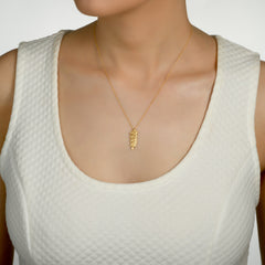 14k Marika Desert Gold Wheat Necklace with Diamonds - Jackson Hole Jewelry Company